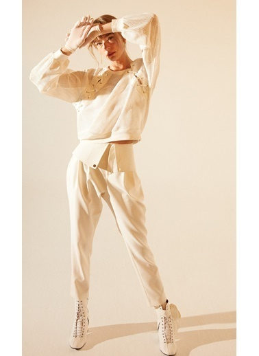 Tuba Ergin Sweatshirt Beyaz